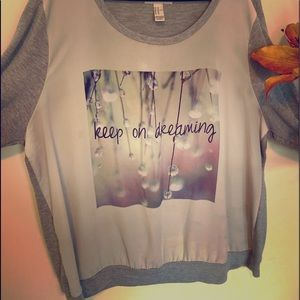 """Keep On Dreaming"" Scoop Top"